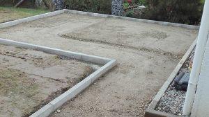 Gartenbau Laupheim, Unterbau für Gartenhaus